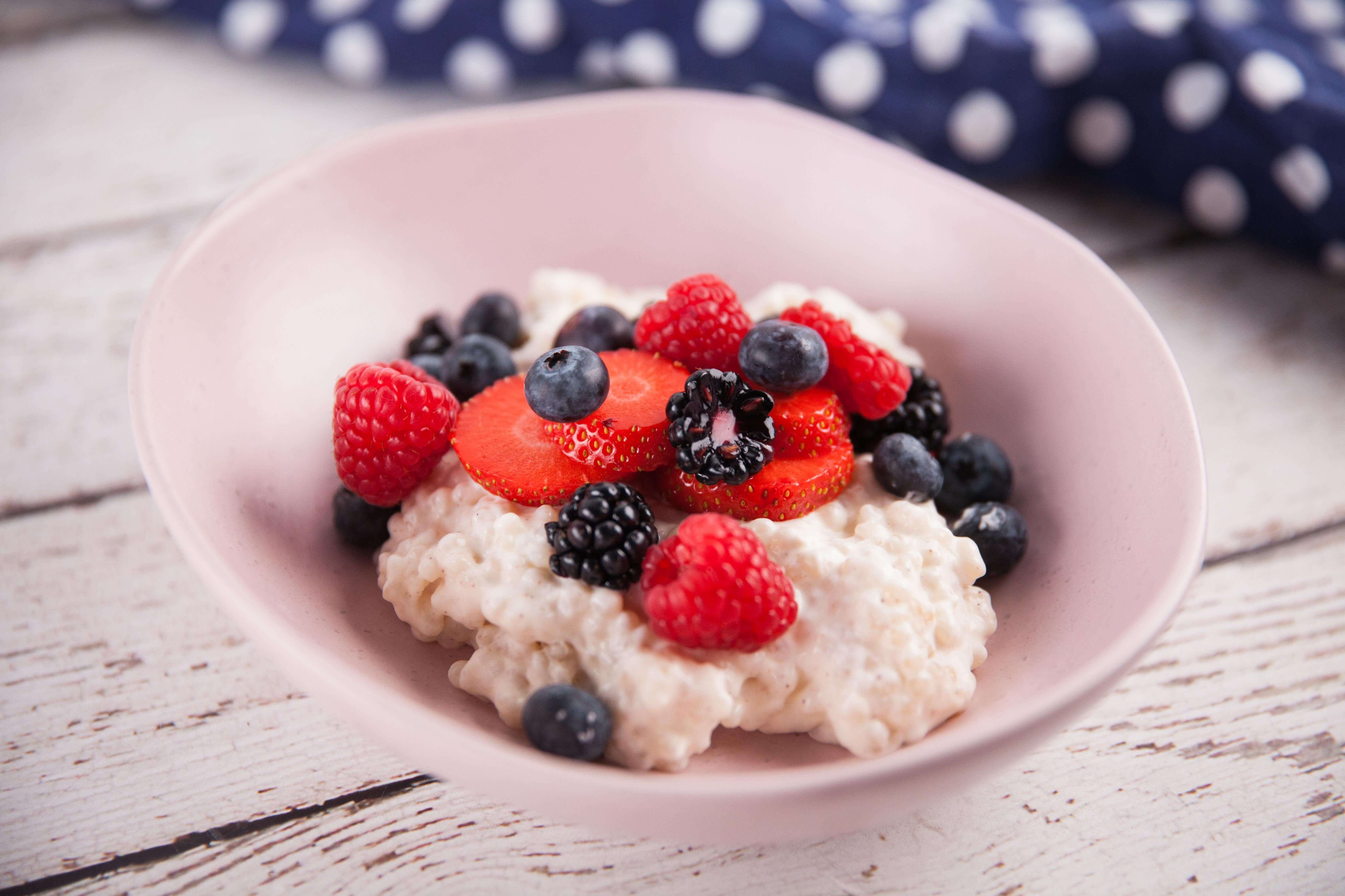 Sago Pudding with Fresh Berries